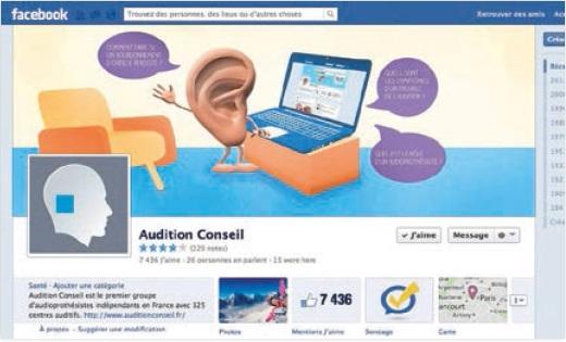 Audition Conseil est sur facebook !