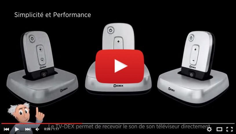 Vidéo sur l'accessoire TVDex et MDex de Widex