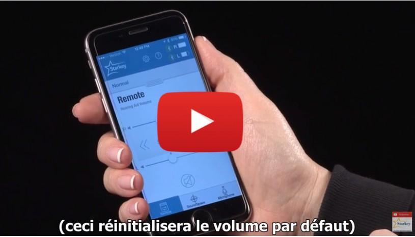 Vidéo Starkey Réinitialiser le volume avec TruLink