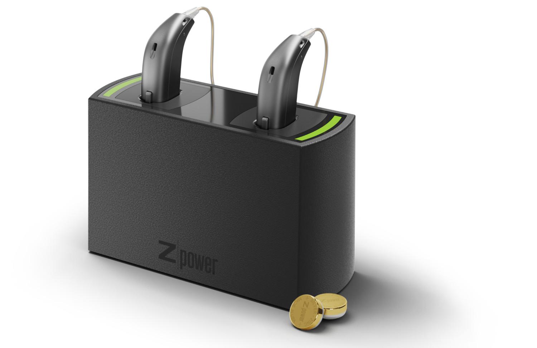 Chargeur Zpower de l'aide auditive Opn d'Oticon