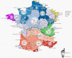 Carte langues régionales françaises