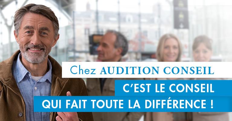 Consultez le nouveau spot TV d'Audition Conseil, votre réseau d'audioprothésistes en France