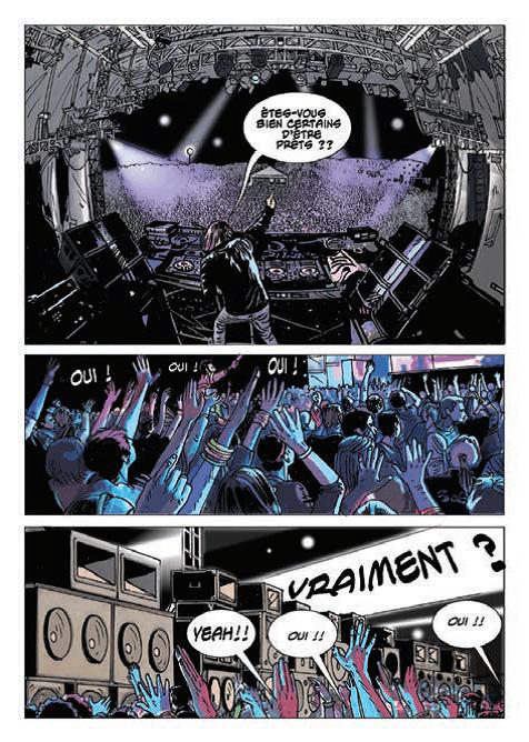 Bande dessinée fête de la musique pour prévenir des risques auditifs