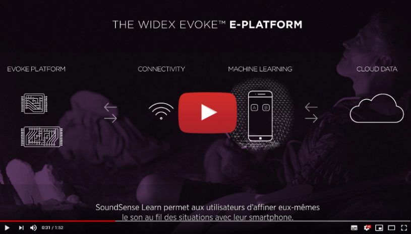 Vidéo sur la technologie Evoke SoundSense Learn de la marque WIDEX