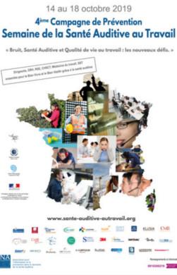Affiche campagne de prévention sur la Santé Auditive au Travail