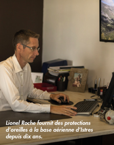 Lionel Roche professionnel de l'audition propose des protections auditive à la base aérienne d'Istres