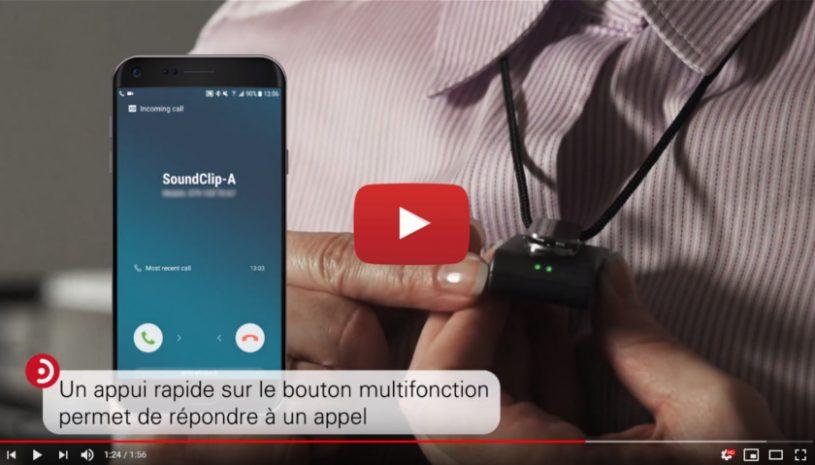 Tutoriel explicatif de la marque BERNAFON pour savoir comment appairer le SoundClip-A à une interface bluetooth