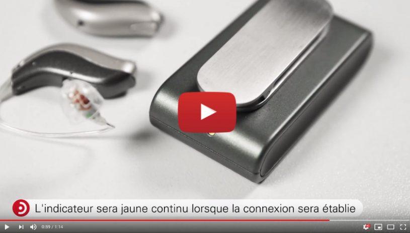 Tutoriel explicatif de la marque BERNAFON pour savoir comment appairer un SoundClip-A à votre prothèse auditive