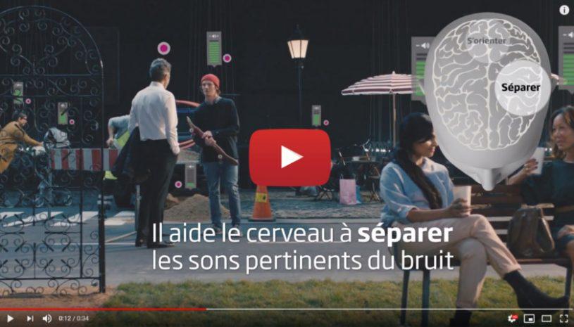 Vidéo sur la technologie auditive BrainHearing de la marque OTICON