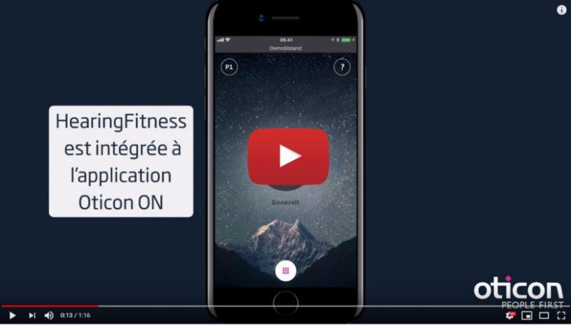 Vidéo sur la technologie Hearing Fitness de la marque OTICON