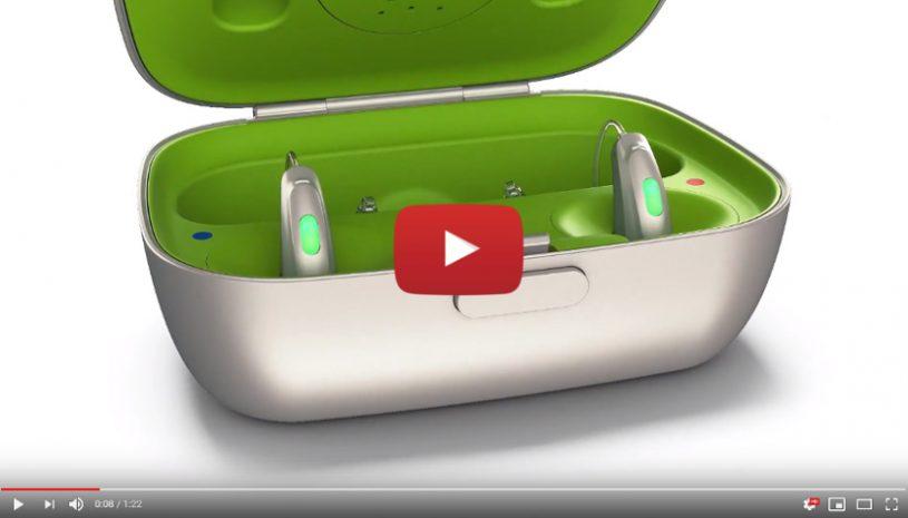 Vidéo sur les solutions auditives rechargeables Lithium-ion de la marque PHONAK