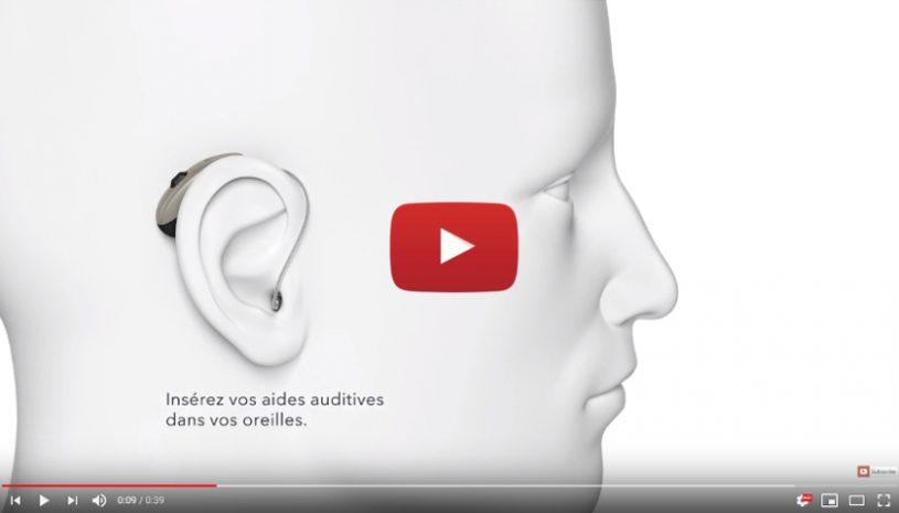 Tutoriel proposé par la marque SIGNIA pour savoir comment allumer vos aides auditives rechargeables
