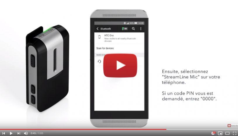 Tutoriel proposé par la marque SIGNIA pour savoir comment appairer StreamLine MIC à votre smartphone