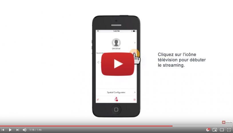 """Tutoriel proposé par la marque SIGNIA pour savoir comment connecter vos aides auditives """"Made for Iphone"""" au streamline TV"""