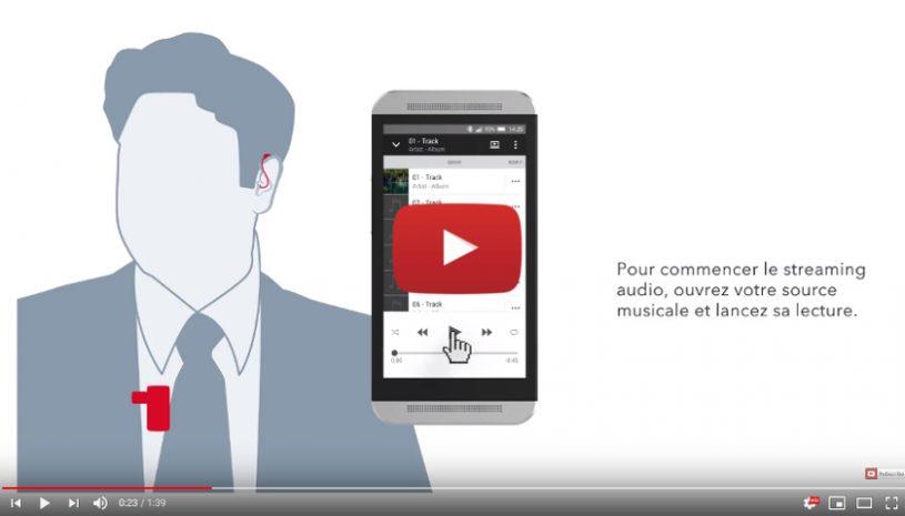 Tutoriel proposé par la marque SIGNIA pour savoir comment écouter sa musique avec l'accessoire StreamLine Mic