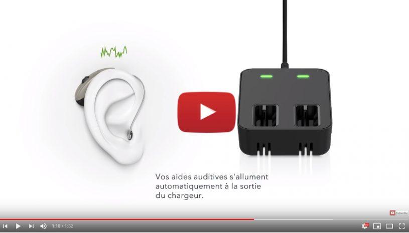 Tutoriel proposé par la marque SIGNIA pour savoir comment recharger vos aides auditives