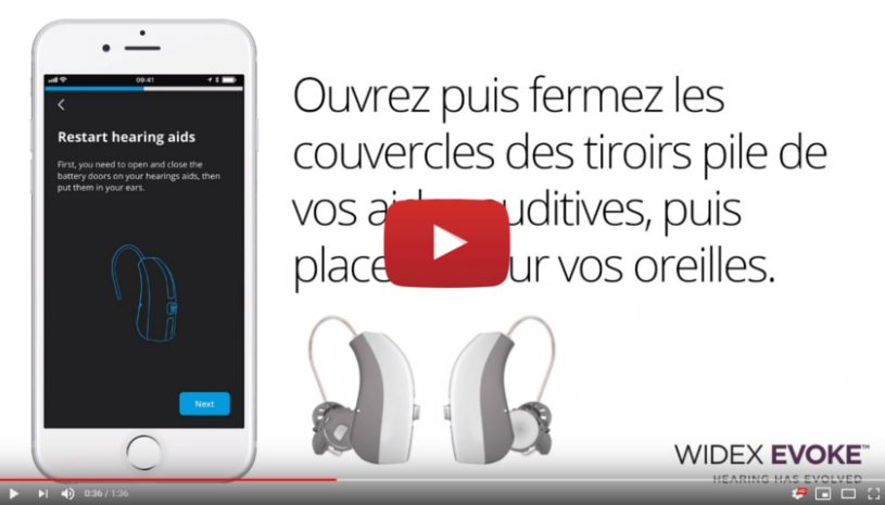 Vidéo sur l'application Tonelink de la marque WIDEX