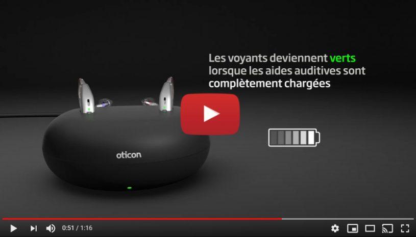 """Vidéo """"Conseils utilisation aides auditives rechargeables"""" de la marque OTICON"""