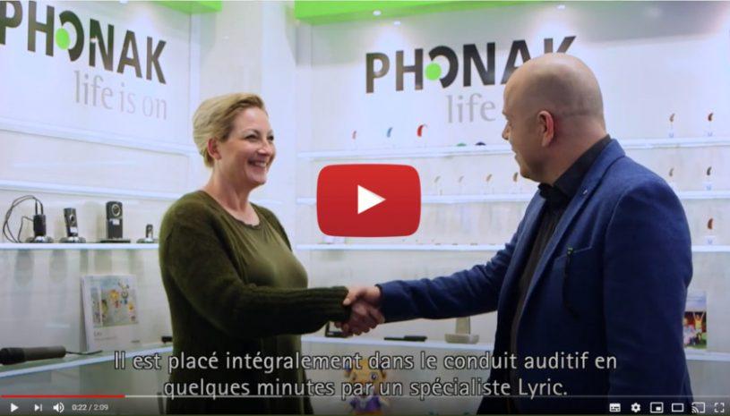 """Vidéo """"De la perte auditive au port de Lyric™"""" de la marque Phonak"""
