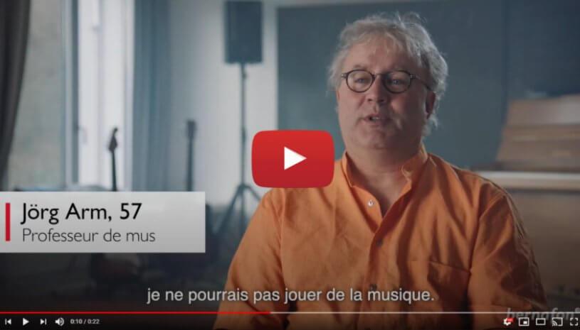 """Vidéo """"Le programme Music Live des aides auditives Viron"""" de la marque BERNAFON"""