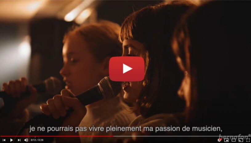 """Vidéo """"Le point de vue d'un musicien sur les aides auditives Viron"""" de la marque BERNAFON"""