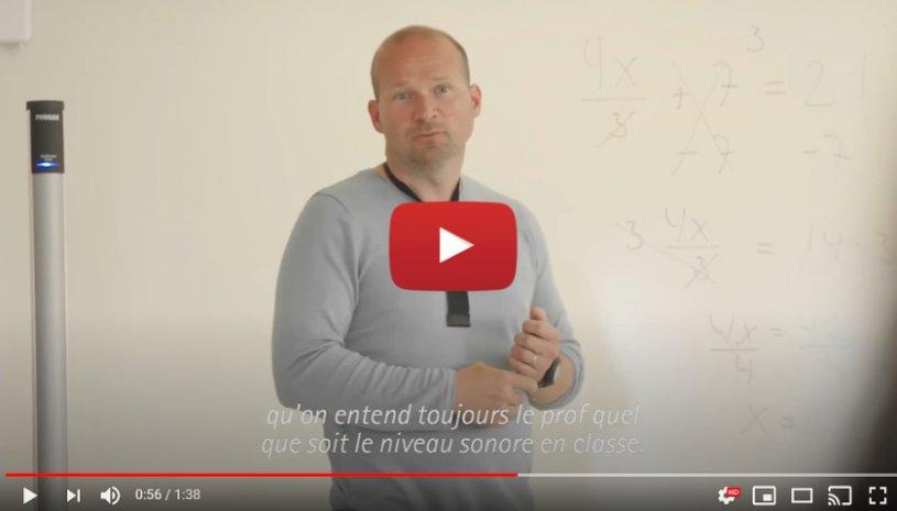 """Vidéo """"Technologie Roger™ : des enseignants et des élèves témoignent"""" de la marque PHONAK"""