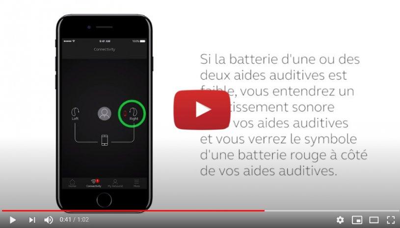 """Vidéo """"ReSound Smart 3D - Vérifier l'état de la batterie"""" de la marque RESOUND"""
