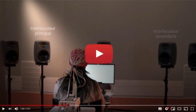 """Vidéo """"Opn S : 1ère aide auditive qui aide le cerveau à organiser les sons"""" de la marque OTICON"""