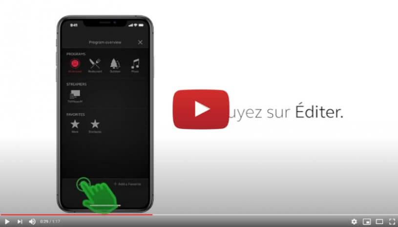 """Vidéo """"ReSound Smart 3D - Supprimer, renommer ou changer le lieu d'un favori existant"""" de la marque RESOUND"""