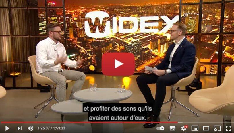 """Vidéo """"Widex Live Broadcast 12/2020 - Autonomisation par l'excellence sonore et la personnalisation."""" de la marque WIDEX"""