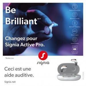 Les aides auditives rechargeables Signia Active Pro sont en exclusivité chez les audioprothésistes Audition Conseil