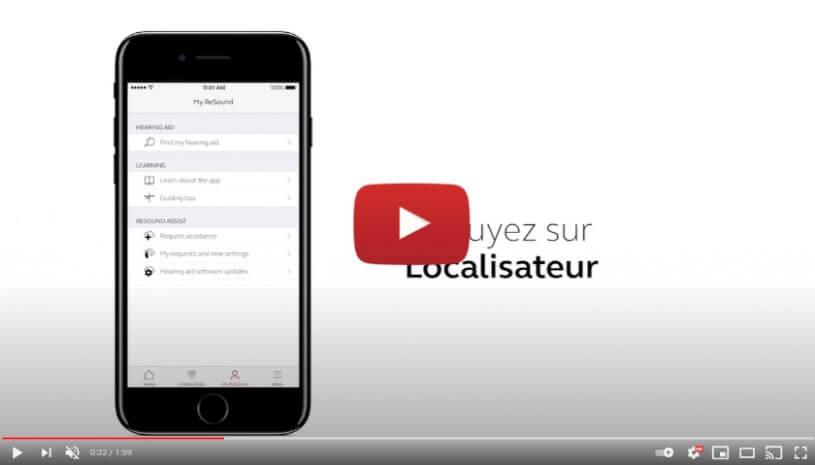 """Vidéo """"ReSound Smart 3D - Comment utiliser le localisateur"""" de la marque RESOUND"""